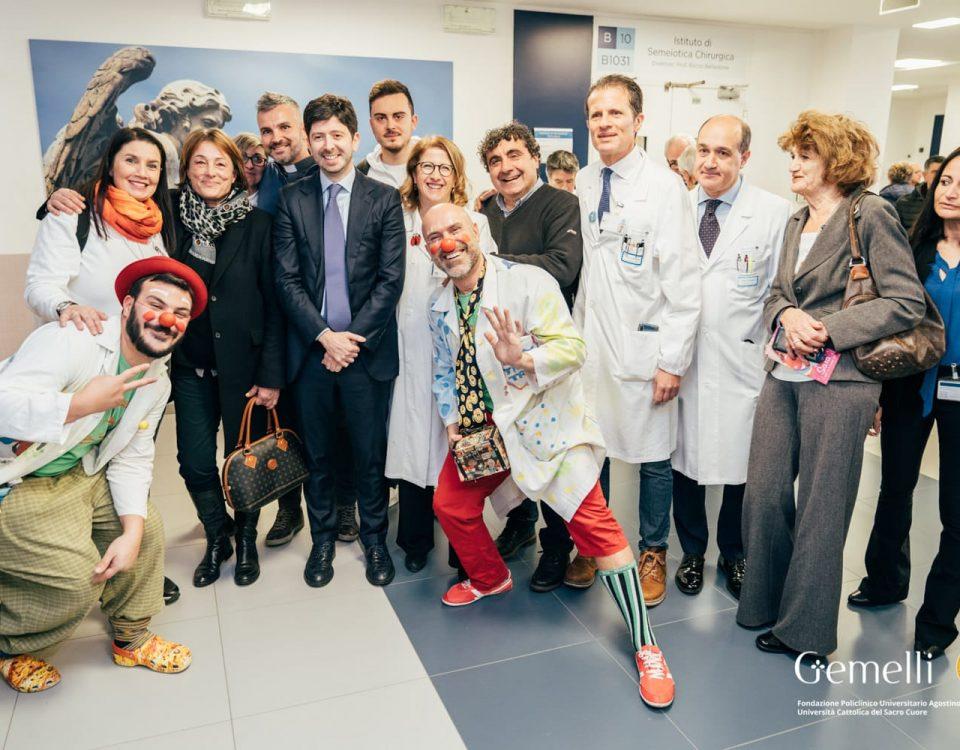 inaugurazione reparto oncologia pediatrica al Gemelli