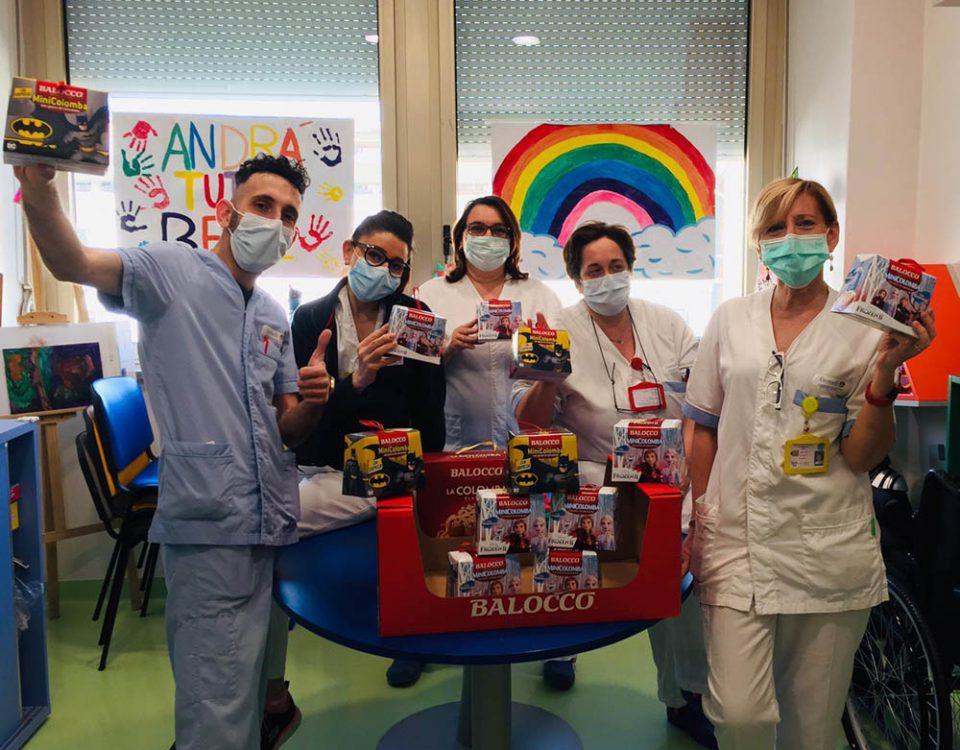 Il Coronavirus non ferma la solidarietà a pasqua con Balocco