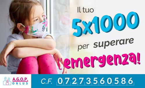 5x1000 all'Oncologia Pediatrica per ripartire dopo l'emergenza Coronavirus